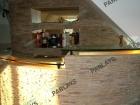 Стеклянная барная стойка для кухни