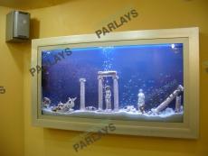 Подвесной стеклянный аквариум