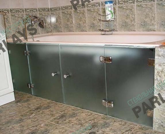 Стеклянные матовые дверцы для ванной