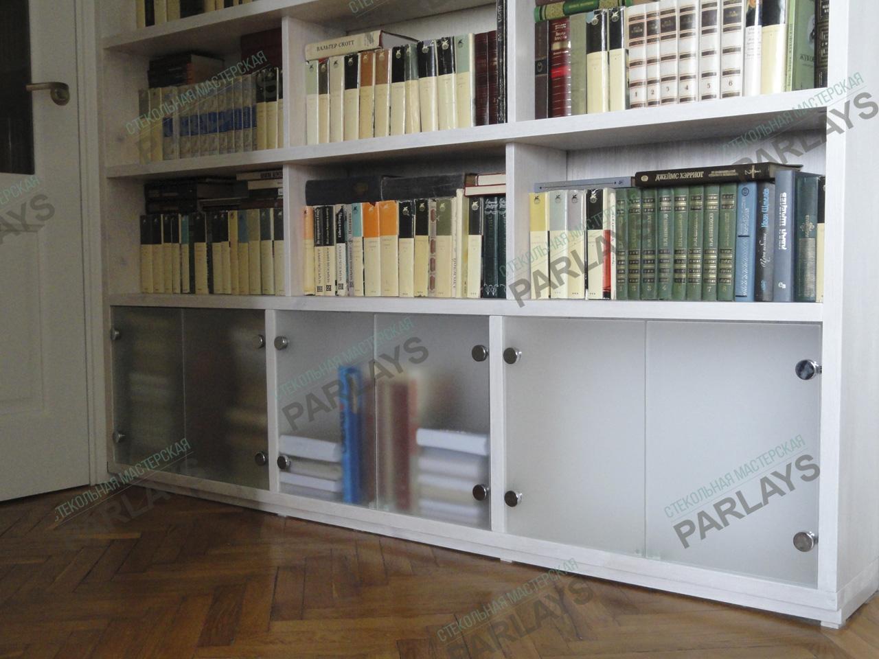 Стеклянные дверцы для книжного стелажа