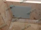 Стеклянная сантехническая дверца из оптивайта