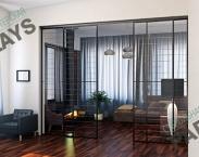 Перегородка из стекла в квартиру