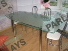 Обеденный стеклянный стол