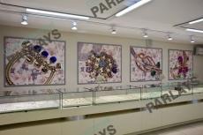 Стеклянные витрины торговое оборудование