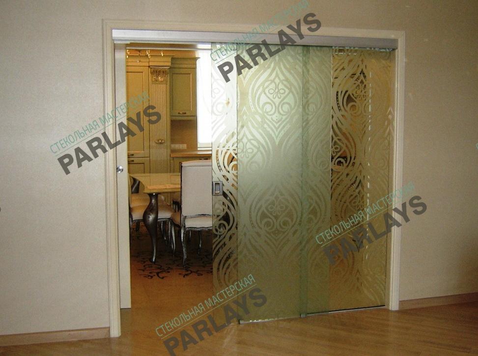 Раздвижные стеклянные двери фото