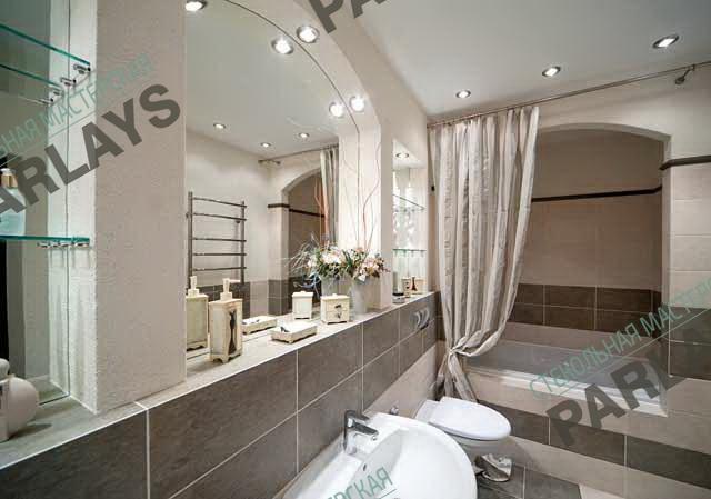 Фигурные зеркала для ванной на заказ